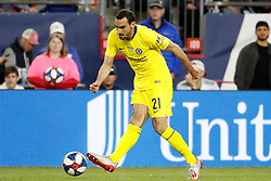 May 15, 2019 - Foxborough, MA, U.S. - FOXBOROUGH, MA - MAY 15: Chelsea FC defender Davide Zappacosta (21) passes during the Final Whistle on Hate match between the New England Revolution and Chelsea Football Club on May 15, 2019, at Gillette Stadium in Foxborough, Massachusetts. (Photo by Fred Kfoury III/Icon Sportswire) (Credit Image: © Fred Kfoury Iii/Icon SMI via ZUMA Press)