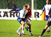 Fotball , 17. oktober 2007 , EM-kvalifisering , Bosnia Herzegovina - Norge 0-2 , <br /> Christian Grindheim , Norge og Branislav Krunic , Bosnia