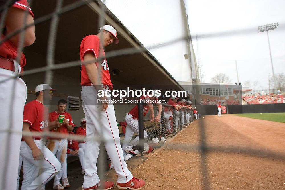 14 March 2007: North Carolina State Wolfpack pitcher Eric Surkamp (43) during a 9-4 win over Valparaiso at Doak Field in Raleigh, NC.