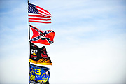 May 19, 2012: NASCAR Sprint All-Star Race, NASCAR flags, Confederate flag, American flag , Jamey Price / Getty Images 2012 (NOT AVAILABLE FOR EDITORIAL OR COMMERCIAL USE