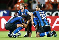 24-08-2008 Milano Italy sport calcio Inter-Roma Supercoppa Italiana 2008 nella foto : inter esultanza dopo goal muntari 1-0  ph. Davide Elias / Agenzia Insidefoto