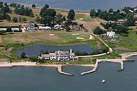 Aerial of former Katherine Hepburn House, Fenwick, Old Saybrook, CT