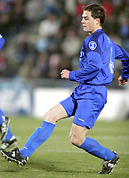 Victoriano Rivas NANO, Spanish Football player and Getafe defender, in action. Getafe - Deportivo de A Coruña / League 2004-05. Alfonso Perez Coliseum, Getafe. 02-03-2005<br />