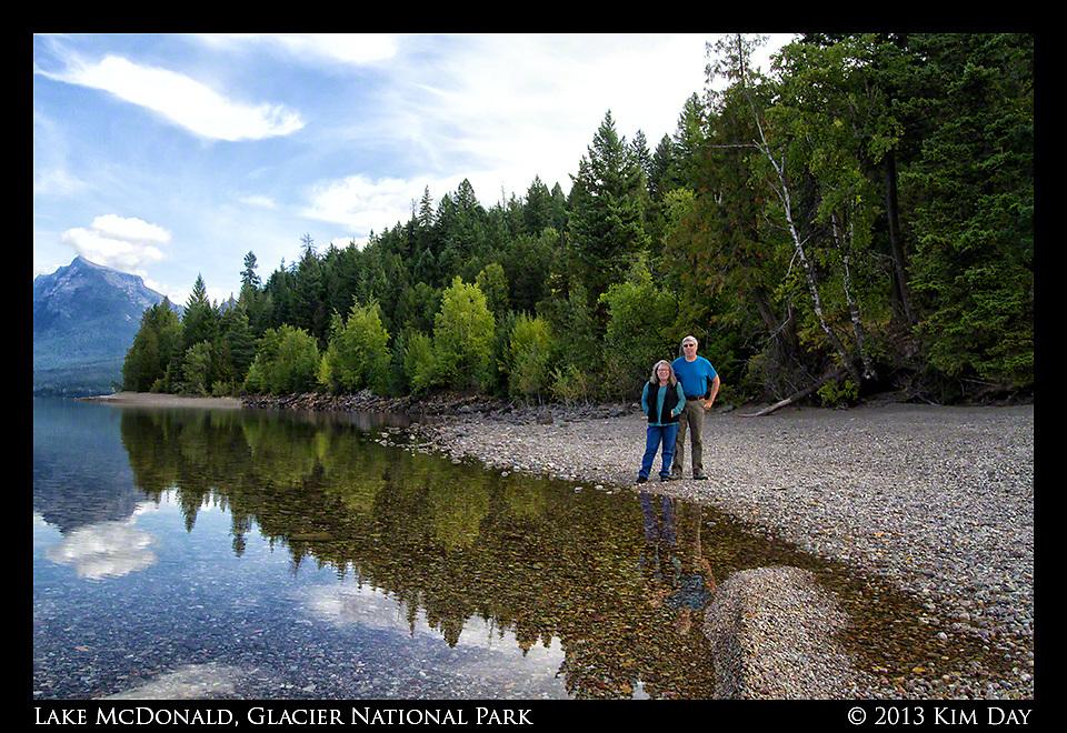 Dianne and Doug at Lake McDonald<br /> Glacier National Park<br /> September 2013