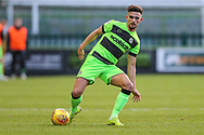 Forest Green Rovers Liam Shephard(2) on the ball during the EFL Sky Bet League 2 match between Forest Green Rovers and Crewe Alexandra at the New Lawn, Forest Green, United Kingdom on 22 December 2018.