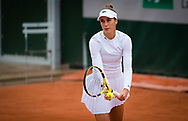 Bernarda Pera of the United States in action during the first round at the Roland Garros 2020, Grand Slam tennis tournament, on September 28, 2020 at Roland Garros stadium in Paris, France - Photo Rob Prange / Spain ProSportsImages / DPPI / ProSportsImages / DPPI