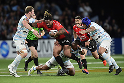 April 8, 2018 - Nanterre, France, France - Mathieu Bastareaud (Rc Toulon) vs Viliamu Afatia (RM92) / Antoine Claassen  (Credit Image: © Panoramic via ZUMA Press)
