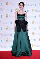 Rachel Brosnahan in the press room at the 72nd British Academy Film Awards held at the Royal Albert Hall, Kensington Gore, Kensington, London.