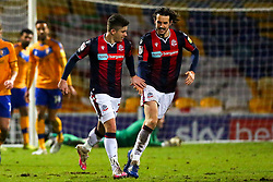 Declan John of Bolton Wanderers celebrates his goal - Mandatory by-line: Ryan Crockett/JMP - 17/02/2021 - FOOTBALL - One Call Stadium - Mansfield, England - Mansfield Town v Bolton Wanderers - Sky Bet League Two