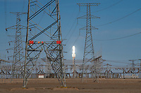 Huge solar power station in the Gobi Desert, Dunhuang, Gansu, China