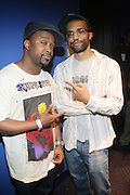 l to r: DJ Spinna and JRocc at The Black Star Concert presented by BlackSmith and Live N Direct held at The Nokia Theater in New York City on May 30, 2009