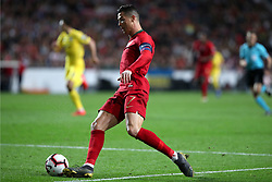 March 22, 2019 - Lisbon, Portugal - Portugal's forward Cristiano Ronaldo in action  during the UEFA EURO 2020 group B qualifying football match Portugal vs Ukraine, at the Luz Stadium in Lisbon, Portugal, on March 22, 2019. (Credit Image: © Pedro Fiuza/ZUMA Wire)