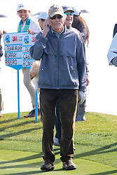"Feb 6, 2019 Pebble Beach, Ca. USA TV, Film and singing stars that included Winners, CLINT EASTWOOD whom played in the ""3M Celebrity Challenge"" to try for part of the 100K purse to go to their favorite charity and win the Estwood-Murray cup, for which team Clint Eastwwod's group won.. The event took place during practice day of the PGA AT&T National Pro-Am golf on the Pebble Beach Golf Links. Photo by Dane Andrew c. 2019 contact: 408 744-9017  TenPressMedia@gmail.com"