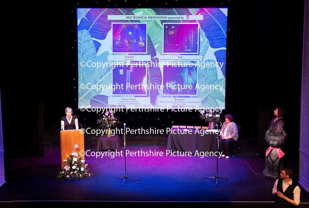 EMBARGOED UNTIL 18.00 (6PM) 10.06.18 <br />Critics' Awards for Theatre in Scotland at Perth Theatre…Anna Burnside of the Daily Record annouces the BEST TECHNICAL PRESENTATION<br />for further info contact Lesley Booth at CATS on 07799 414474<br />Picture by Graeme Hart.<br />Copyright Perthshire Picture Agency<br />Tel: 01738 623350  Mobile: 07990 594431