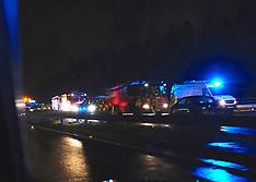 Accident at J4 eastbound, M8, 2 December 2018