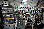 Instrumentation in the WW2 submarine, the USS Bowfin. USS Bowfin Submarine Museum and Park, part of the USS Arizona Memorial Museum in Pearl Harbour, Hawai. RIGHTS MANAGED LICENSE AVAILABLE FROM www.PhotoLibrary.com