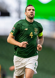 DUBLIN, REPUBLIC OF IRELAND - Sunday, October 11, 2020: Republic of Ireland's captain Shane Duffy during the UEFA Nations League Group Stage League B Group 4 match between Republic of Ireland and Wales at the Aviva Stadium. The game ended in a 0-0 draw. (Pic by David Rawcliffe/Propaganda)