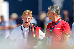 EHNING Marcus (GER), BECKER Otto (Bundestrainer Springen)<br /> Rotterdam - Europameisterschaft Dressur, Springen und Para-Dressur 2019<br /> Parcoursbesichtigung<br /> Longines FEI Jumping European Championship part 2 - team 2nd and final round<br /> Finale Teamwertung 2. Runde<br /> 24. August 2019<br /> © www.sportfotos-lafrentz.de/Stefan Lafrentz