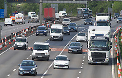 ©Licensed to London News Pictures 11/05/2020  <br /> Dartford, UK. Traffic on the A282 in Dartford, Kent. More cars on the roads as people start to get back to work from Coronavirus lockdown.Photo credit:Grant Falvey/LNP