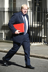 June 13, 2017 - London - Boris Johnson arrives at Downing Street for the second cabinet meeting in two days ahead of todays visit by DUP leader Arlene Foster. (Credit Image: © Andrew Mccaren/London News Pictures via ZUMA Wire)