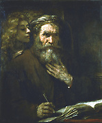 St Matthew the Evangelist (1661). Rembrandt van Rijn (1606-1669), Dutch artist.  Louvre, Paris