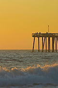 Fishing Off The Pier Of San Clemente