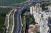 Aerial view of Southern Acre and highway 4, Israel