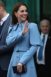 February 28, 2019 - Ballymena, Ireland, United Kingdom - Duchess of Cambridge leaving a visit to  the Braid Centre in Ballymena on the second day of their trip to Northern Ireland. (Credit Image: © Stephen Lock/i-Images via ZUMA Press)