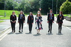 Lochgelly High School Exam results<br /> <br /> Shirley-Anne Somerville with some of the Lochgelly High Students<br /> <br /> (c) David Wardle | Edinburgh Elite media