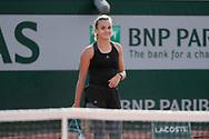 Clara BUREL (FRA) during the Roland Garros 2020, Grand Slam tennis tournament, on October 1 st, 2020 at Roland Garros stadium in Paris, France - Photo Stephane Allaman / ProSportsImages / DPPI