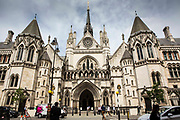 The Royal Courts of Justice, commonly called the Law Courts, is a court building in London which houses both the High Court and Court of Appeal of England and Wales. London, UK.