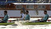 PUTNEY, LONDON, ENGLAND, 05.03.2006, Cambridge, CUBC; [right to left] Sebastian Schulte; No.6 Kieran West; No.7 Tom James;  Pre 2006 Boat Race Fixtures,.   © Peter Spurrier/Intersport-images.com..CUBC, Bow Luke Walton, No. 2 Tom Edwards, No.3 Sebastian Thormann, No 4. Thorsten Englemann, No.5 Sebastian Schulte, No.6 Kieran West, No.7 Tom James, stroke Kip McDaniel and cox Peter Rudge...OUBC, Bow Robin Esjmond-Frey, No.2 Colin Smith, No.3 Jake Wetzel, No.4 Paul Daniels, No.5 James Schroeder. No.6 Barney Williams, No. 7 Tom Parker, stroke Bastien Ripoll, and cox Nick Brodie,..[Mandatory Credit Peter Spurrier/ Intersport Images] Varsity Boat Race, Rowing Course: River Thames, Championship course, Putney to Mortlake 4.25 Miles