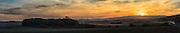USA, Oregon, Baskett Slough National Wildlife Refuge, sunset, digital composite, panorama.