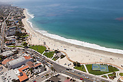 Main Beach in Laguna Aerial Stock Photo Facing South