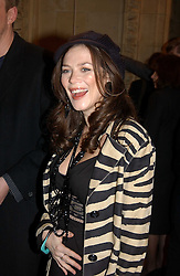 Actress ANNA FRIEL at the return of Dralion to celebrate the Cirque Du Soleil's 20th Anniversary at the Royal Albert Hall, London on 6th January 2005.<br /><br />NON EXCLUSIVE - WORLD RIGHTS