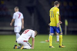 September 3, 2017 - Barysaw, BELARUS - 170903 Belarus Nikita Korzun deppar efter VM-kvalmatchen i fotboll mellan Belarus och Sverige den 3 september 2017 i Barysaw  (Credit Image: © Joel Marklund/Bildbyran via ZUMA Wire)