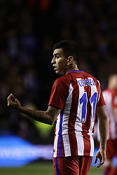 March 2, 2017 - A CoruñA, Galicia - A CO Angel Correa forward of Atletico de Madrid (11) reacts during the La Liga Santander match between Deportivo de La Coruña and Atletico de Madrid at Riazor Stadium on March 2, 2017 in A Coruña, Spain. (Credit Image: © Jose Manuel Alvarez Rey/NurPhoto via ZUMA Press)