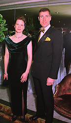 MISS SALLY DURNFORD and MR ANDY GREEN the driver of Thrust SSC which recently broke the land speed record and breaking the speed of sound, at a ball in London on 12th February 1998.MFL 29