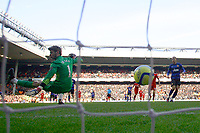 Football - FA Cup Fourth Round - Liverpool vs. Manchester United<br /> David de Gea of Manchester United is beaten by a strike from Dirk Kuyt of Liverpool (not pictured) at Anfield
