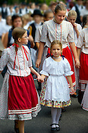 People in traditional Hungarian dress - Annual wine harvest festival ( szuret fesztival ) - Badacsony - Balaton -  Hungary .<br /> <br /> Visit our HUNGARY HISTORIC PLACES PHOTO COLLECTIONS for more photos to download or buy as wall art prints https://funkystock.photoshelter.com/gallery-collection/Pictures-Images-of-Hungary-Photos-of-Hungarian-Historic-Landmark-Sites/C0000Te8AnPgxjRg .<br /> <br /> Visit our HUNGARY HISTORIC PLACES PHOTO COLLECTIONS for more photos to download or buy as wall art prints https://funkystock.photoshelter.com/gallery-collection/Pictures-Images-of-Hungary-Photos-of-Hungarian-Historic-Landmark-Sites/C0000Te8AnPgxjRg