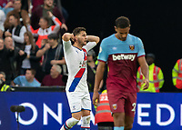 Football - 2019 / 2020 Premier League - West Ham United vs. Crystal Palace <br /> <br /> Joel Ward (Crystal Palace) holds his head in his hands after his team go so close at the London Stadium<br /> <br /> COLORSPORT/DANIEL BEARHAM
