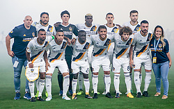 August 12, 2017 - Carson, CA, USA - Carson, CA - Saturday August 12, 2017: Los Angeles Galaxy starting eleven during a Major League Soccer (MLS) game between the Los Angeles Galaxy and the New York City FC at StubHub Center. (Credit Image: © Michael Janosz/ISIPhotos via ZUMA Wire)
