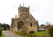 Historic Norman architecture, Church of St John the Baptist, Devizes, Wiltshire, England, UK