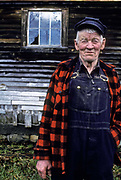 Portrait of a Vermont farmer, USA