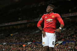 5th December 2017 - UEFA Champions League - Group A - Manchester United v CSKA Moscow - Paul Pogba of Man Utd - Photo: Simon Stacpoole / Offside.