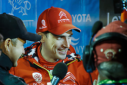 October 26, 2017 - Deeside, Wales, United Kingdom - 8 Craig Breen (IRL) of CitroÃ«n World Rally Team speaks to the media prior to the Rally GB round of the 2017 FIA World Rally Championship. (Credit Image: © Hugh Peterswald/Pacific Press via ZUMA Wire)