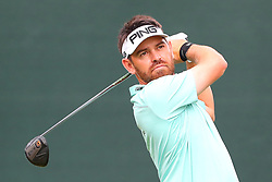 August 25, 2018 - Paramus, NJ, U.S. - PARAMUS, NJ - AUGUST 25:  Louis Oosthuizen of South Africa plays his shot from the first tee  during the third round of The Northern Trust on August 25, 2018 at the Ridgewood Championship Course in Ridgewood, New Jersey.   (Photo by Rich Graessle/Icon Sportswire) (Credit Image: © Rich Graessle/Icon SMI via ZUMA Press)