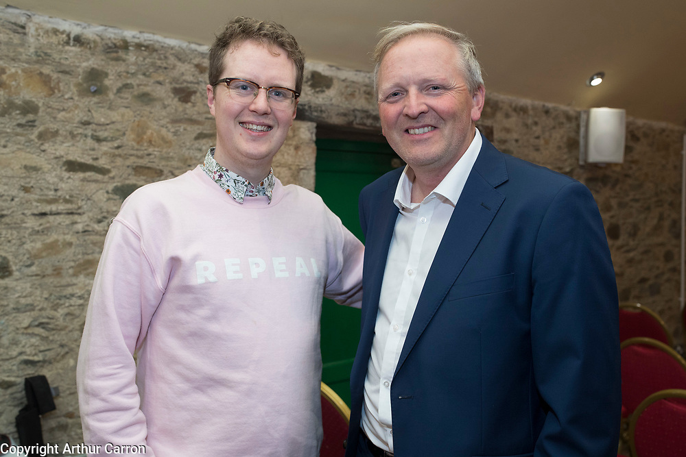 NO FEE PICTURES                                                                                                                                              9/10/19 Pictured are Damien McClean, Smarmore and Allen McAdam, board member of the IFI, at the launch of the International Fund for Ireland's New Leaf project at the Coach House, Dunleer with (IFI rep or New Leaf project rep). The special project aims to support the local community and young people in an area still suffering from the legacy of the Troubles and will be run by Ardee & District Community Trust in partnership with the Dunleer and District Community Development Board.Picture: Arthur Carron