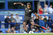 Fulham midfielder Ryan Sessegnon (3) warming up during the Premier League match between Everton and Fulham at Goodison Park, Liverpool, England on 29 September 2018.