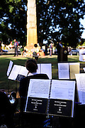 Salvation Army Band Tune Book (for Trombone) at Anzac Day (25th April) service. Guildford, Western Australia
